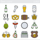 Beer color icons set Stock Photo