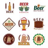 Beer colored emblems Royalty Free Stock Images