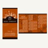 Beer company. Restaurant theme. Corporate identity. Brochures de Royalty Free Stock Photos