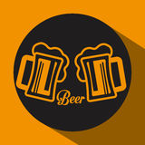 Beer concept design Stock Photography