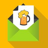 Beer concept with mug on a letter background Stock Image