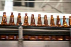 Beer conveyor Stock Photo