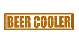 Beer cooler. Stamp with text beer cooler inside,  illustration Royalty Free Stock Photo