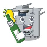 With beer copier machine next to character chair. Vector illustration vector illustration