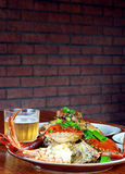 Beer and crab Royalty Free Stock Image