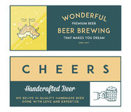 Beer Craft Colored Royalty Free Stock Images