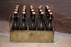 Beer crate Stock Photography