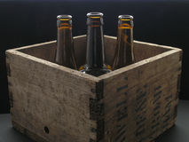 Beer Crate. Wooden beer crate Royalty Free Stock Photo
