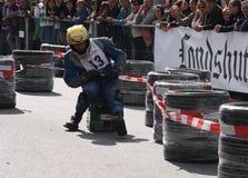 Beer crate racing Stock Photos