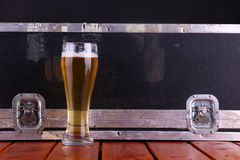 Beer and crate Royalty Free Stock Image
