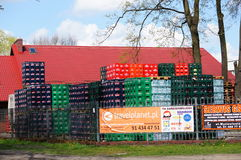 Beer crates stacks Stock Photos