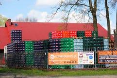Beer crates stacks Stock Photos