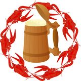 Beer and crawfish Royalty Free Stock Image