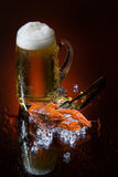Beer And Crawfish Royalty Free Stock Photo