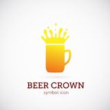 Beer Crown Vector Concept Symbol Icon or Logo Royalty Free Stock Image