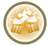 Beer cups Royalty Free Stock Photos