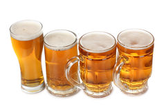 Beer cups Stock Photo