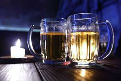Beer in dark Royalty Free Stock Photo
