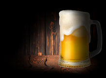 Beer on a dark background Stock Photo