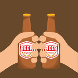 Beer design Royalty Free Stock Images