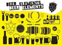 Beer design elements Royalty Free Stock Image