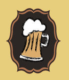 Beer design stock illustration