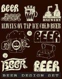 Beer design set Stock Images