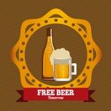 Beer design, vector illustration. Beer design over beige design, vector illustration Stock Photos