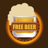 Beer design, vector illustration. Beer design over beige design, vector illustration Stock Images
