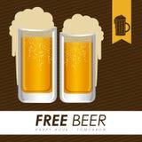 Beer design, vector illustration. Beer design over brown background, vector illustration Royalty Free Stock Photos