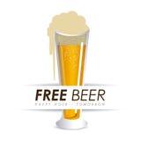 Beer design, vector illustration. Beer design over white background, vector illustration Stock Images