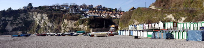 Beer Devon England. The pretty coastal fishing village of Beer on the East Devon Coast in England Stock Images