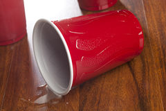 Beer in a Disposable Red Cup Stock Image