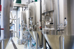 Beer distillery at bewery Royalty Free Stock Images