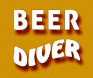 Beer diver. Simple orange Beer diver meme vector illustration