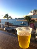 Beer on the docks. In Nassau, Bahamas Royalty Free Stock Photography