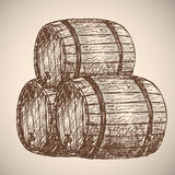Beer. Drawing by hand. Royalty Free Stock Photos