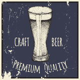 Beer. Drawing by hand. Stock Photos