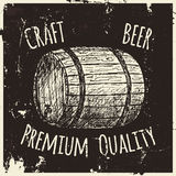 Beer. Drawing by hand. Stock Photo