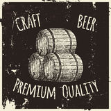 Beer. Drawing by hand. Royalty Free Stock Photo