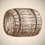 Beer. Drawing by hand. Stock Image
