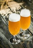 Beer. Drink bar glass pint wooden ale stock image