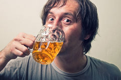 Beer drinker Stock Photography