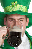 Beer Drinking Man. St patricks beer man drinking Stock Photos