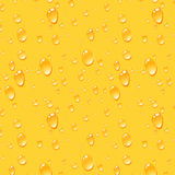 Beer Drops Background, Seamless Vector Pattern Stock Photography