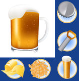 Beer elements Stock Photo