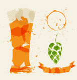 Beer and elements consisting Stock Images