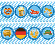 Beer elements with oktoberfest symbol.Vector label Stock Photos