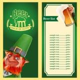Beer elfs list 2 frame Royalty Free Stock Images