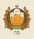 Beer emblem Stock Photography